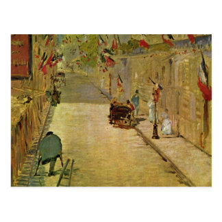Rue Mosnier mit Fahnen - Edouard Manet Briefkaart