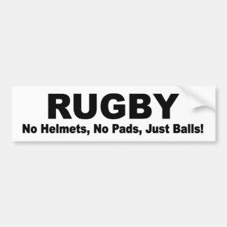 RUGBY geen stootkussens, geen helmen, enkel Bumpersticker