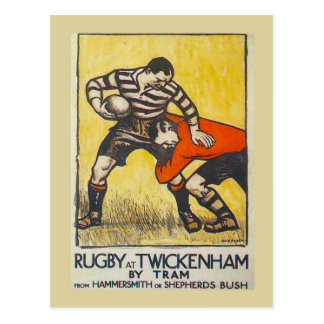 Rugby in Twickenham door tram van Hammersmith Briefkaart