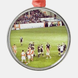 Rugby Zilverkleurig Rond Ornament