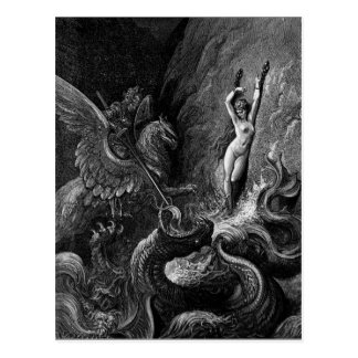 Ruggiero die Engelwortel door Gustave Doré redden Briefkaart
