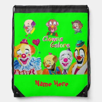 Rugzak van Drawstring van de Clowns van het Circus