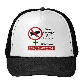 Ruil geen Meisjes voor Koeien, hen Onderwijs geven Trucker Cap