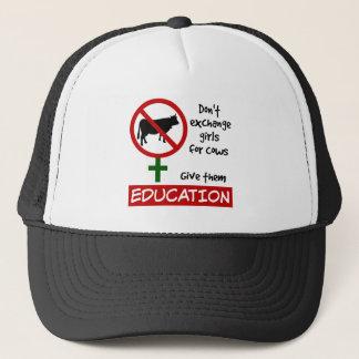 Ruil geen Meisjes voor Koeien, hen Onderwijs geven Trucker Pet