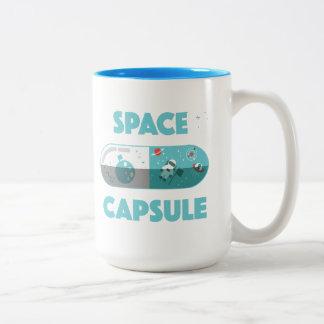 Ruimte Capsule Tweekleurige Koffiemok