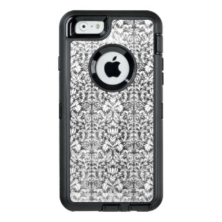 Ruimte Grijze Damast Doorstane Druk OtterBox Defender iPhone Hoesje