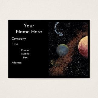 RUIMTE het thema mollig visitekaartje B van de Visitekaartjes