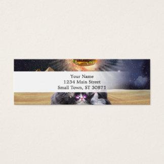ruimte katten die de hamburger zoeken mini visitekaartjes