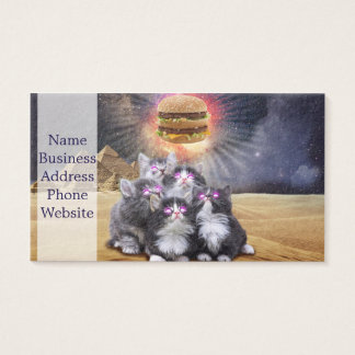 ruimte katten die de hamburger zoeken visitekaartjes