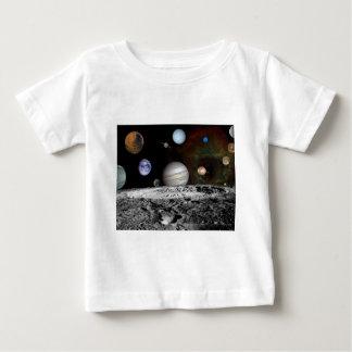 ruimte montering baby t shirts