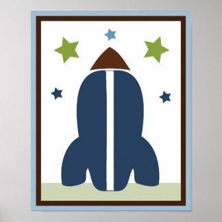 Ruimte Raket 1 het Poster/de Druk van de Kunst van Poster