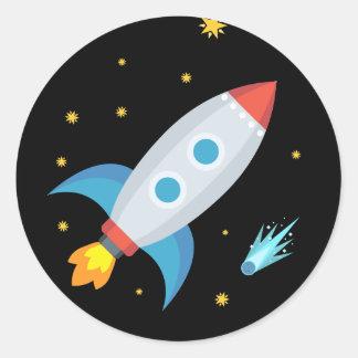 Ruimte Raket Emoji Ronde Sticker