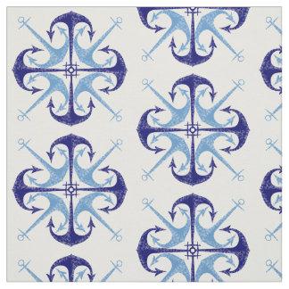 Ruimte van de blauwe de vintage anker stof