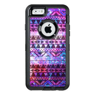 Ruimte van de het patroon roze blauwgroen nevel OtterBox defender iPhone hoesje