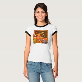 Ruimteschip op Monitor T Shirt