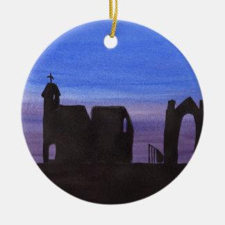 Ruïnes in Gloaming Rond Keramisch Ornament