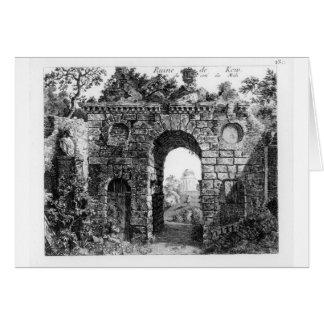 Ruïnes in het midden van Tuinen Kew, van de 'Gard Briefkaarten 0