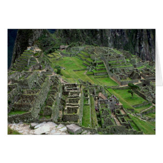 Ruïnes in Machu Picchu Kaart