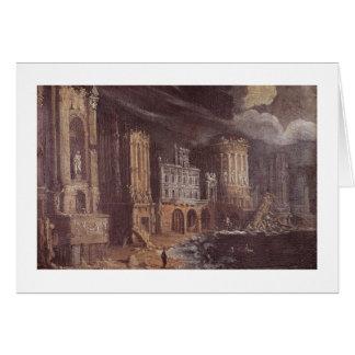 Ruïnes met de Legende van St. Augustine (de olie Briefkaarten 0