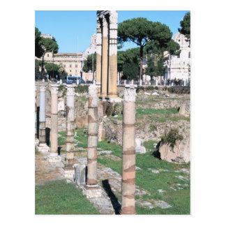 Ruïnes van de Tempel van Bever en Pollux, Italië Briefkaart