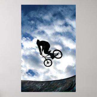 Ruiter BMX in Groene Devonshire, Sheffield Poster
