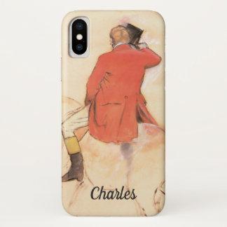 Ruiter in een Rode Laag door Edgar Degas iPhone X Hoesje