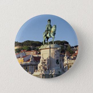 Ruiter standbeeld van Koning José I, Lissabon Ronde Button 5,7 Cm