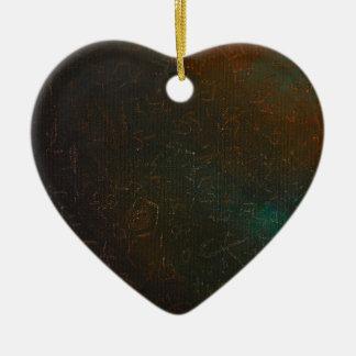 Runen Keramisch Hart Ornament