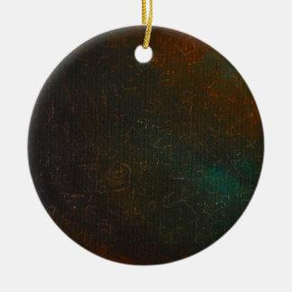 Runen Rond Keramisch Ornament