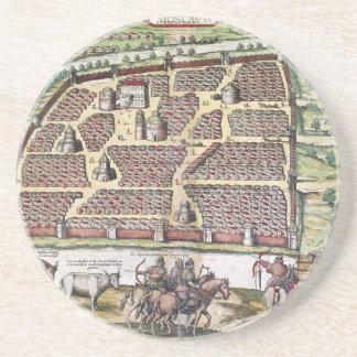 RUSLAND: MOSKOU, 1591 ZANDSTEEN ONDERZETTER