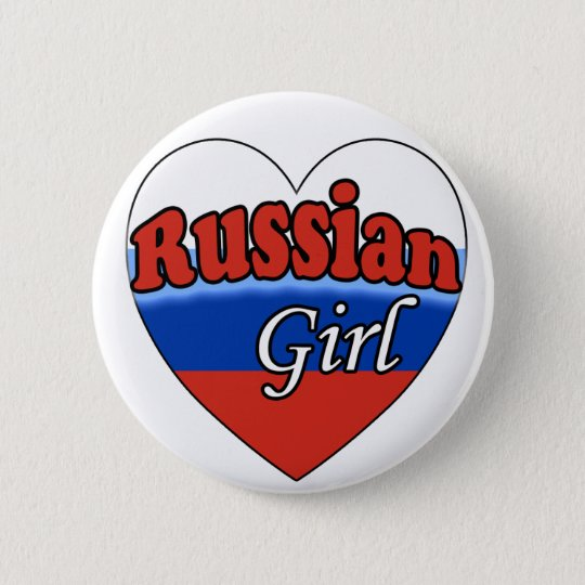 Russian Girl Ronde Button 5,7 Cm