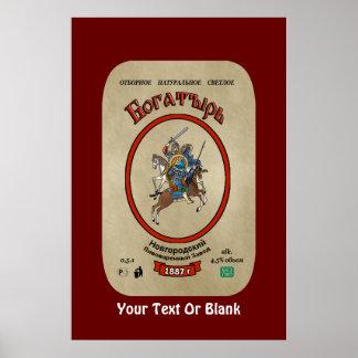 Russisch Bier Bogatyr Poster