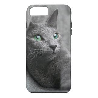 Russisch-blauw-kat-met groene ogen iPhone 8/7 plus hoesje