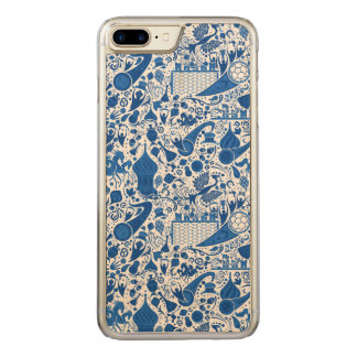 Russisch Patroon Gzel Carved iPhone 7 Plus Hoesje