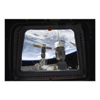 Russisch ruimtevaartuig twee fotoafdruk