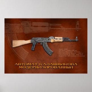 Russische AKM Poster
