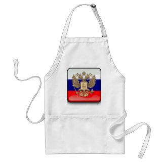Russische glanzende vlag standaard schort