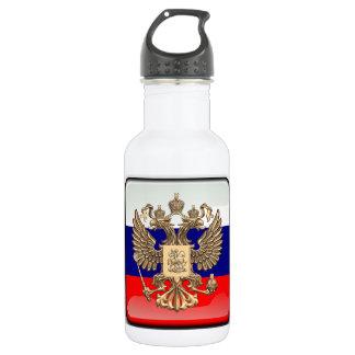Russische glanzende vlag waterfles