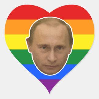 Russische Regenboog - Putin houdt van u Hart Sticker