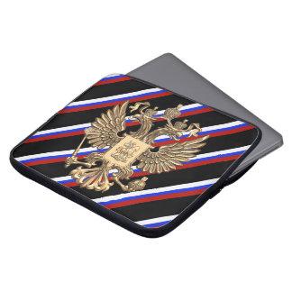 Russische strepenvlag computer sleeve