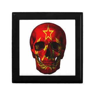 Russische vlagschedel vierkant opbergdoosje small