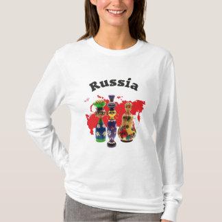 Russland - Russia Babuschka Matrjoschka T Shirt