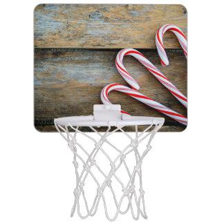 Rustiek Hout met het Riet van het Snoep van Mini Basketbalring