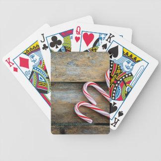 Rustiek Hout met het Riet van het Snoep van Poker Kaarten