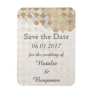 Rustiek Romaans Huwelijk   sparen de Datum Magneet