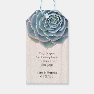 Rustieke Blauwe Succulent dankt u het Label van Cadeaulabel