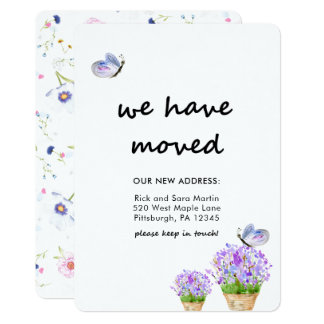 Rustieke Bloemen van de adreswijziging Met 12,7x17,8 Uitnodiging Kaart