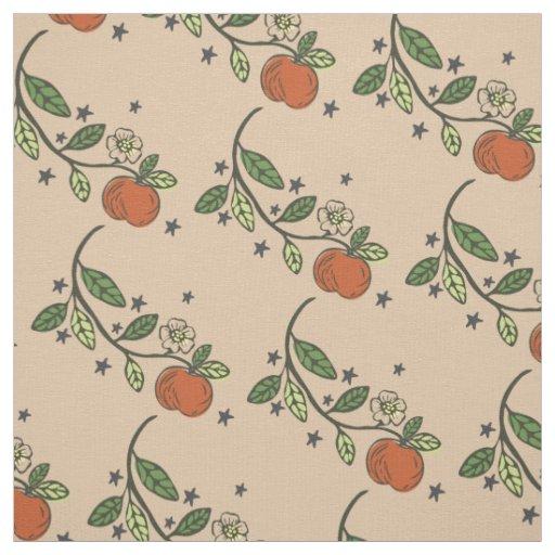 Rustieke Gestempelde Tan van de Tak van Apple Stof