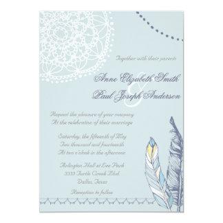 Rustieke het huwelijksuitnodiging III van Boho Kaart
