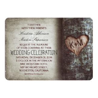 Rustieke het huwelijksuitnodigingen van de boom 12,7x17,8 uitnodiging kaart